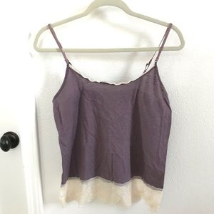 Purple/Ivory Lace Cami